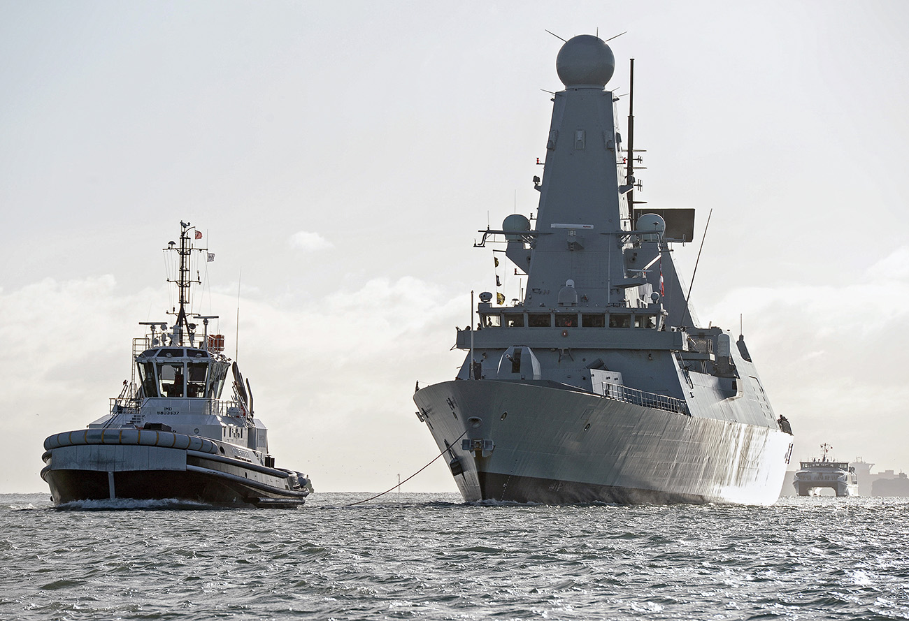 HMS Diamond returns home